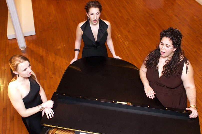 Karina Croskrey, Jordi Wallen, and Eleonore Thomas sing In My Body at The Wexler Gallery, Philadelphia, Nov 2010