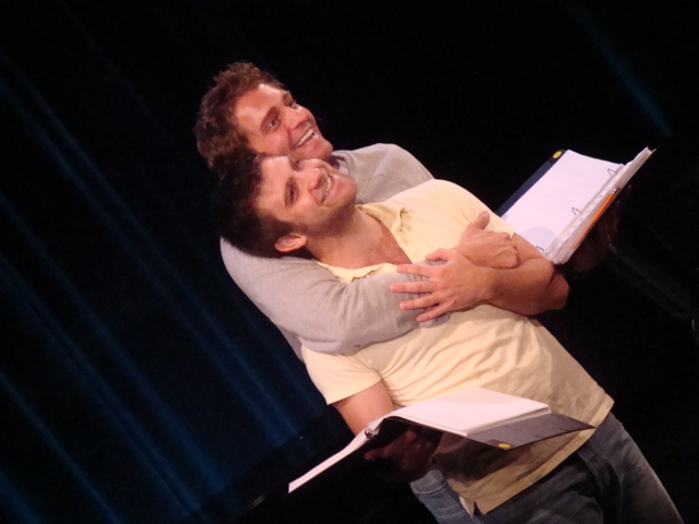 Harris Doran and Colin Hanlon in the reading of The Cousins Grimm at the O'Neill, 2008