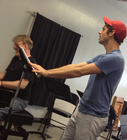 "Robb Sapp rehearses ""Lidia"" with musical director Chris McGovern, NYC 2013"