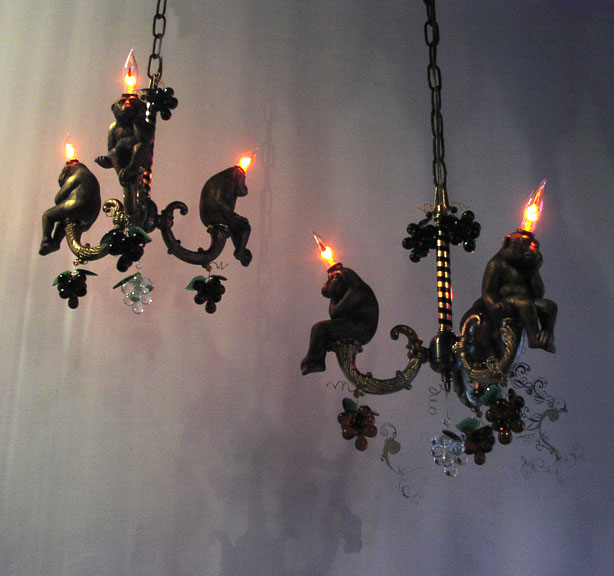 Monkey Chandeliers, Reiff Residence