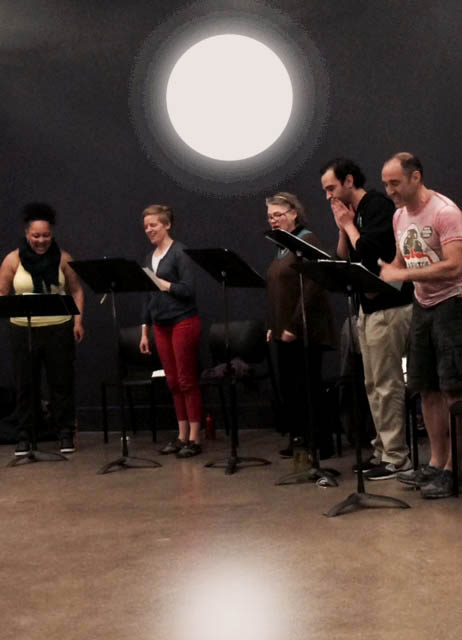 The 2015 workshop cast: Donnie Hammond, Katie Zaffrann, April Woodall, Javier Munoz, Jonathan Brody