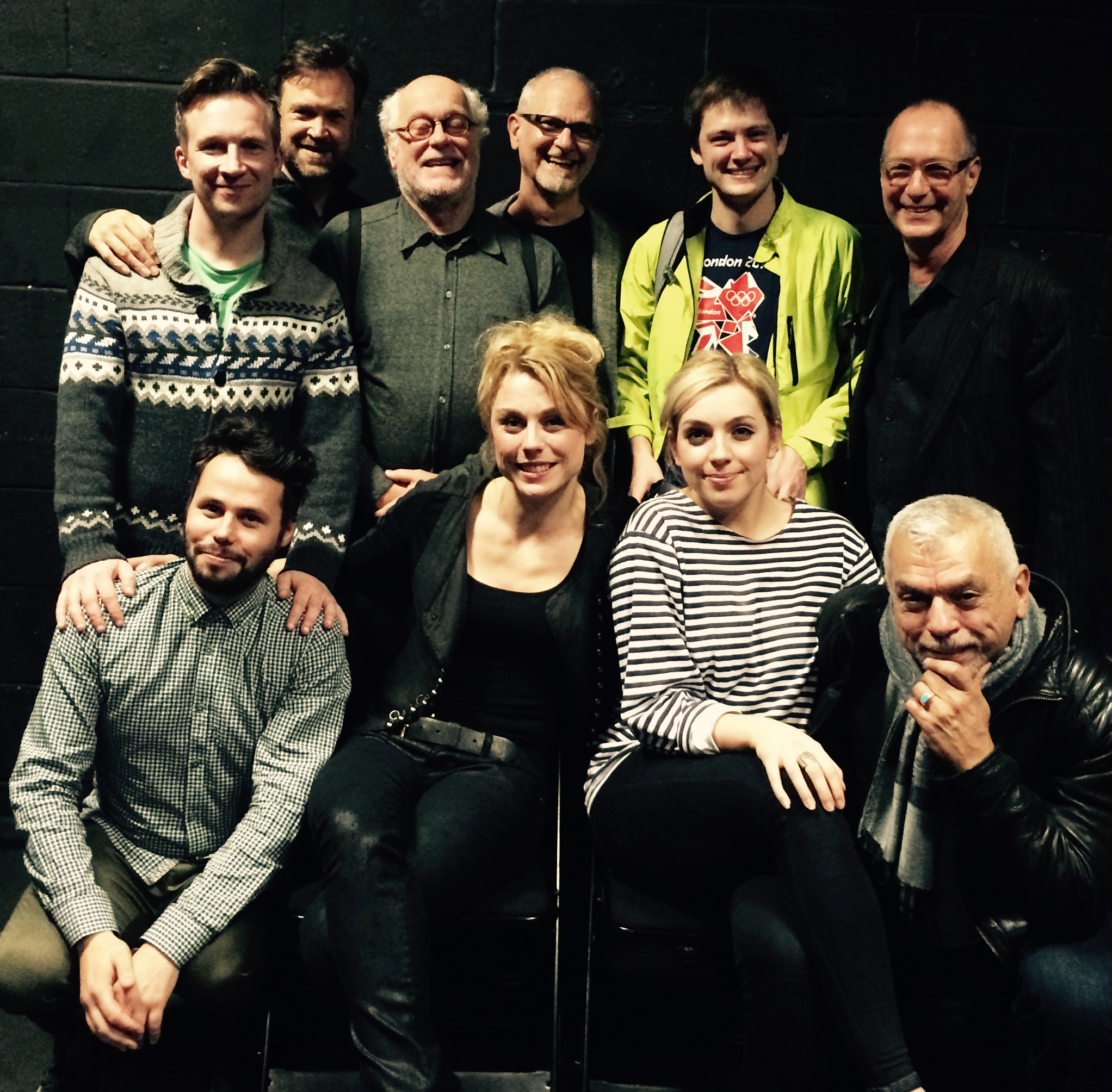 The Cast & Creative Team on stage after our London Showcase, 2015