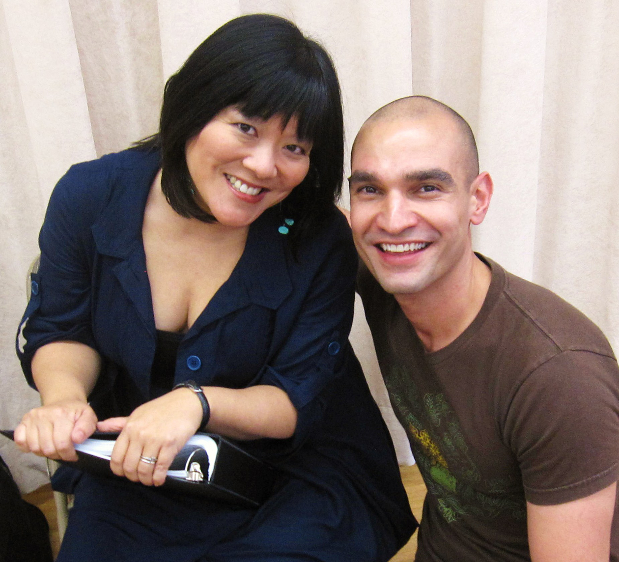 Ann Harada and Javier Munoz at the Marry Harry reading at Pearl, NYC 2011