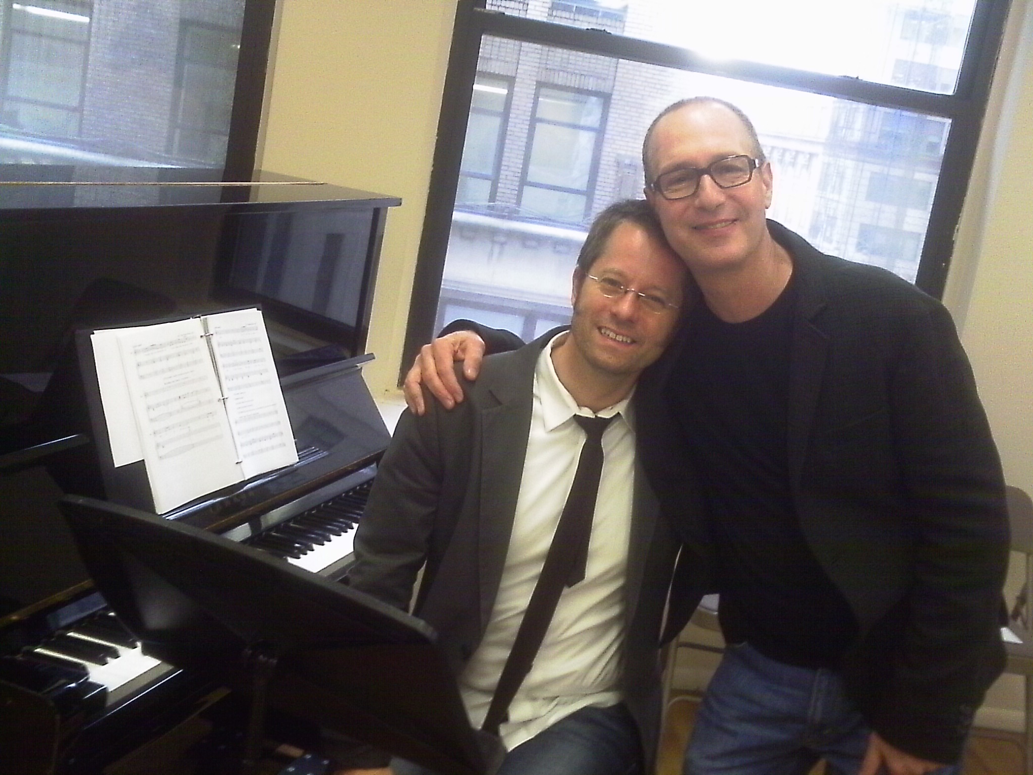 Musical Director Fred Lassen with Dan at the Marry Harry reading, NYC 2011
