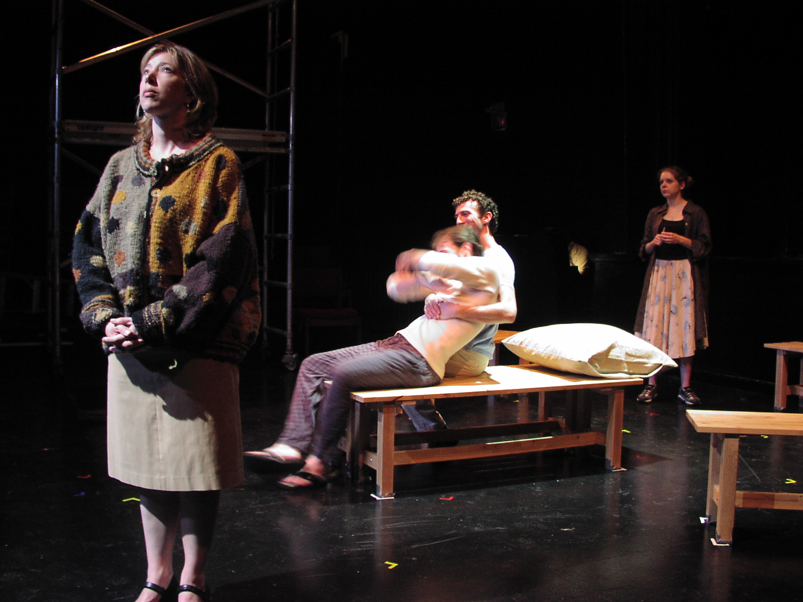 Christine Barbush, Seth Peterson, Robin Marcotte, and Jillian Louis in the 2004 Philadelphia production of Breathe