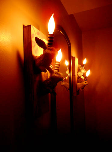Bunny Sconces, Hickory Lane Bistro