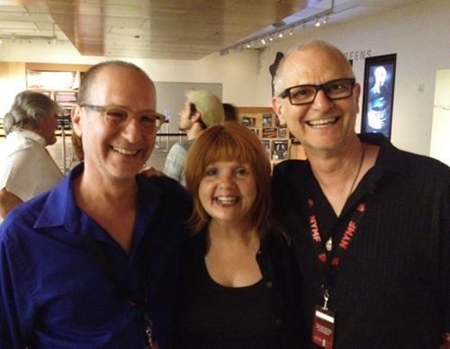 Dan and Michael with Annie Golden at the NYMF press conference, NYC 2013