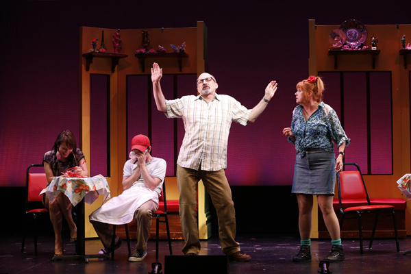 """Jenna Dallacco, Robb Sapp, Philip Hoffman, and Annie Golden in """"Harry's Way"""", NYC 2013"""