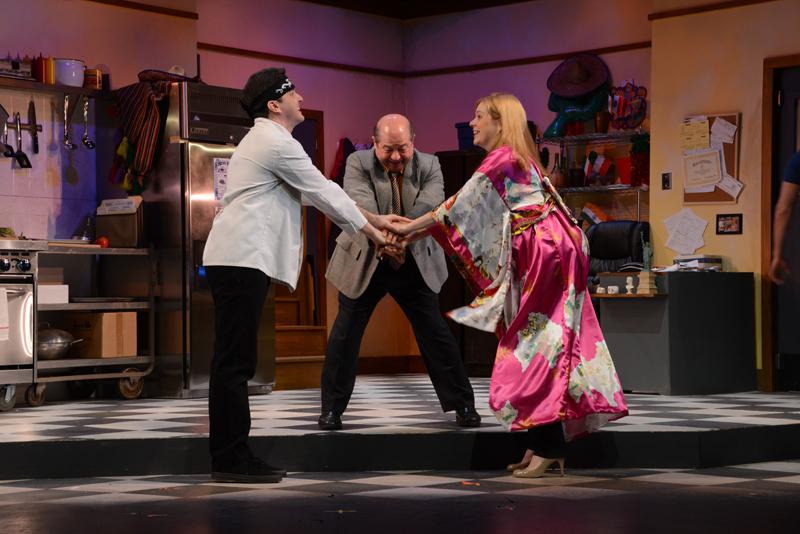 Howie Michael Smith, Danny Rutigliano, and Jillian Louis in Nonnina's Biscotti, 2014