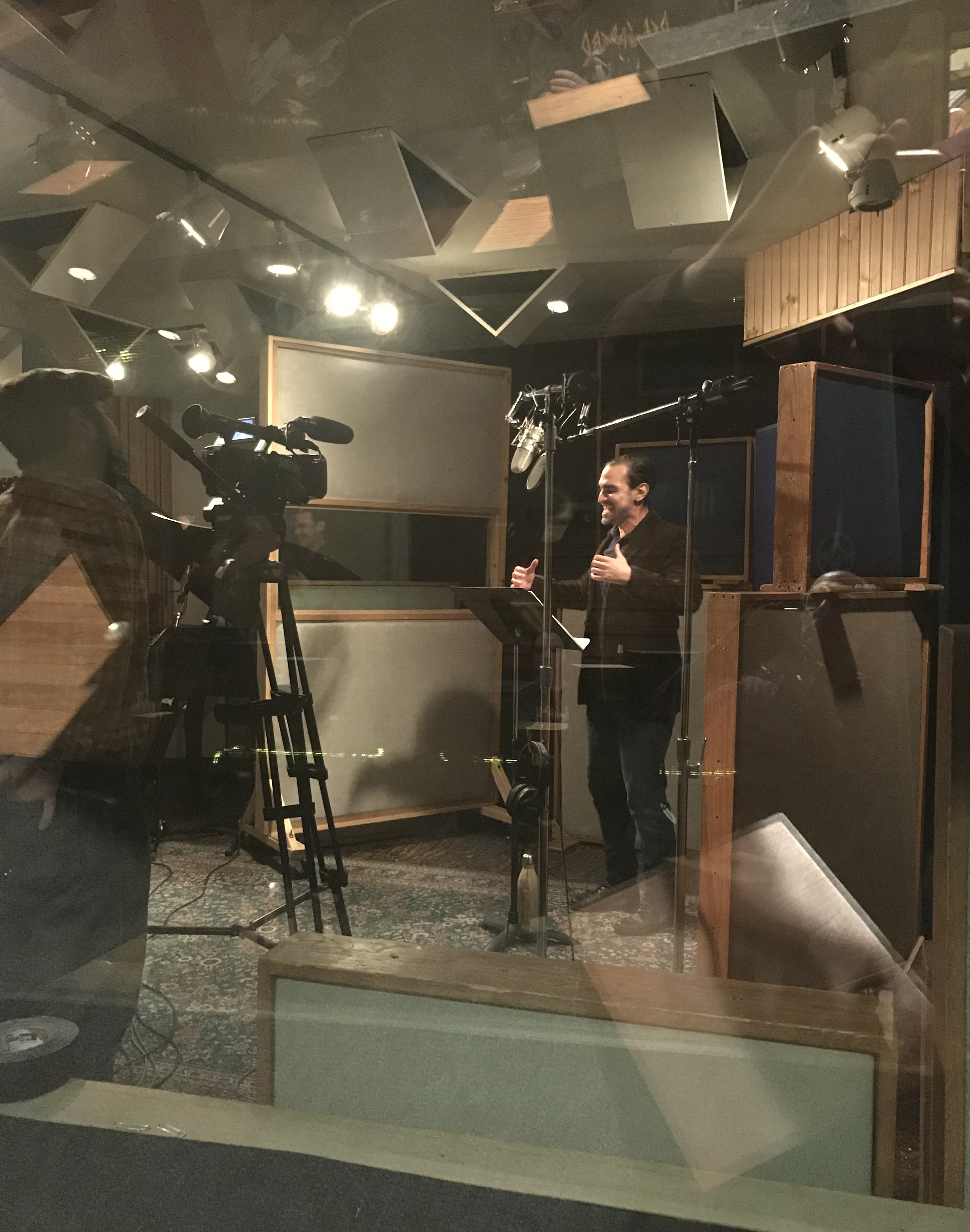 Javier Munoz recording In My Body from Breathe, 2018